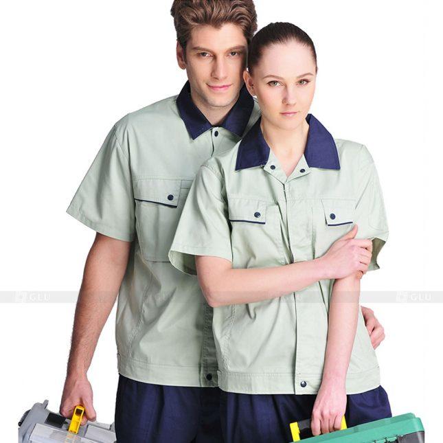 Quan ao dong phuc bao ho GLU X760 đồng phục công nhân xây dựng