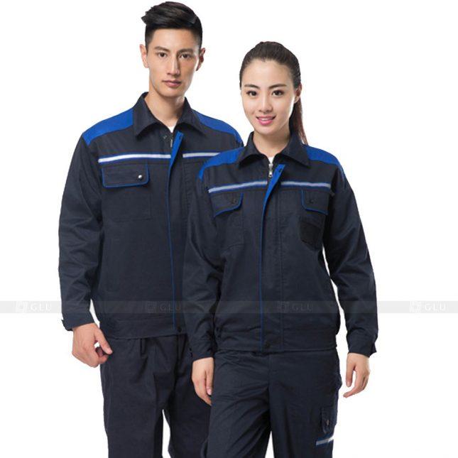Quan ao dong phuc bao ho GLU X761 đồng phục công nhân xây dựng