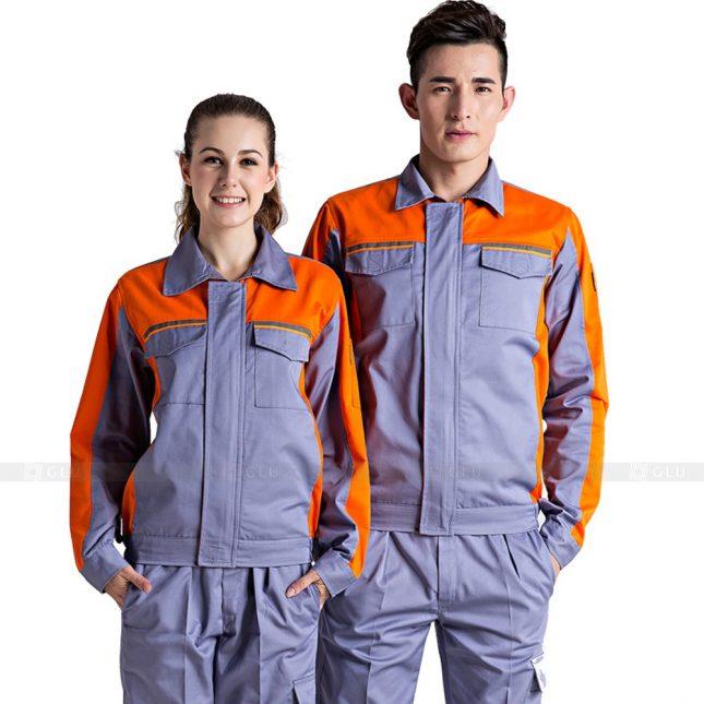 Quan ao dong phuc bao ho GLU X769 đồng phục công nhân xây dựng
