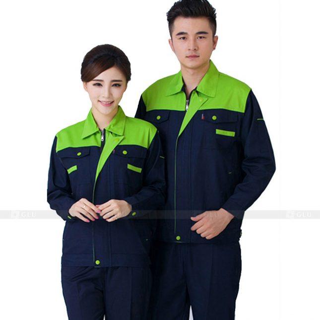 Quan ao dong phuc bao ho GLU X770 đồng phục công nhân xây dựng