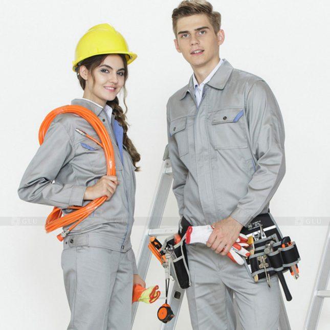 Quan ao dong phuc bao ho GLU X779 đồng phục công nhân xây dựng