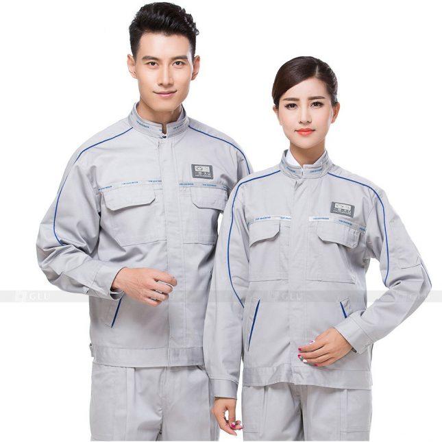 Quan ao dong phuc bao ho GLU X785 đồng phục công nhân xây dựng