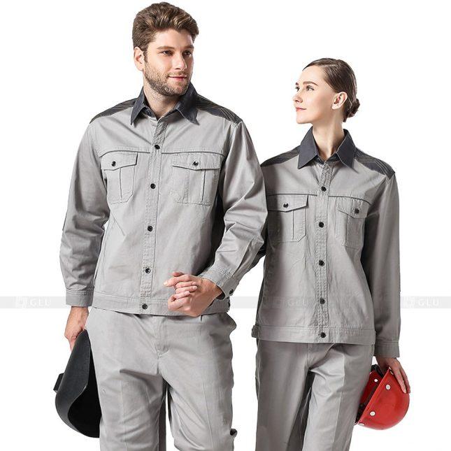 Quan ao dong phuc bao ho GLU X788 đồng phục công nhân xây dựng