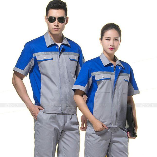 Quan ao dong phuc bao ho GLU X796 đồng phục công nhân xây dựng
