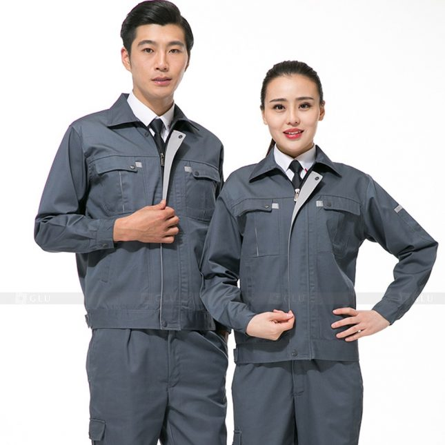 Quan ao dong phuc bao ho GLU X807 đồng phục công nhân cơ khí