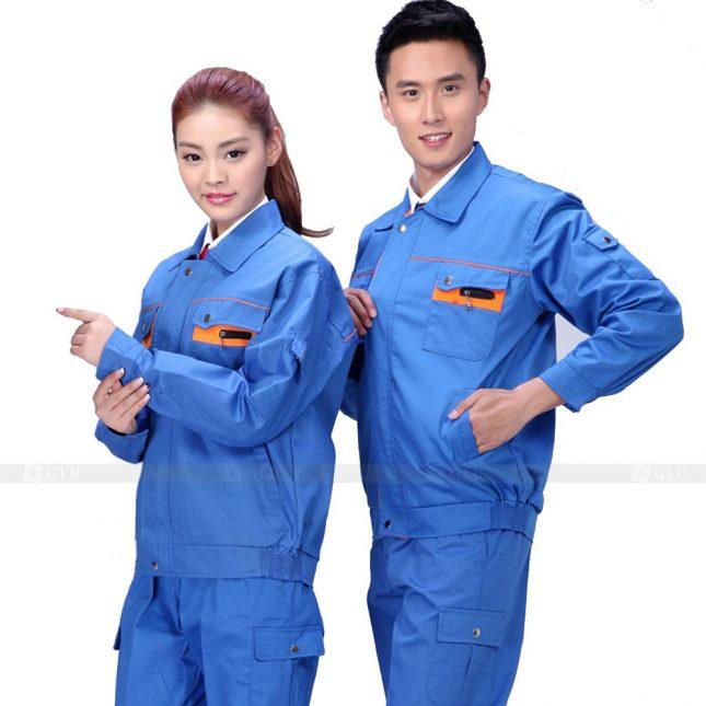 Quan ao dong phuc bao ho GLU X809 đồng phục công nhân cơ khí