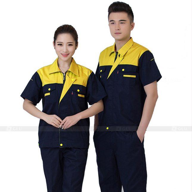Quan ao dong phuc bao ho GLU X813 đồng phục công nhân cơ khí