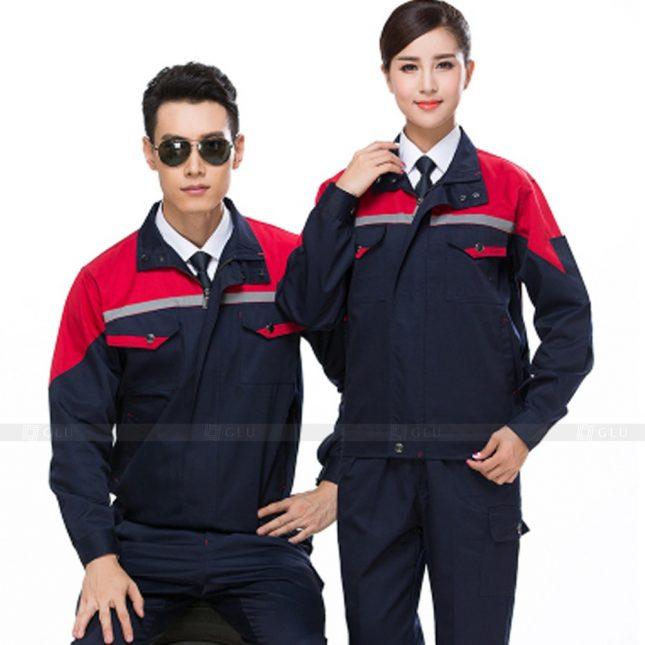 Quan ao dong phuc bao ho GLU X815 đồng phục công nhân cơ khí