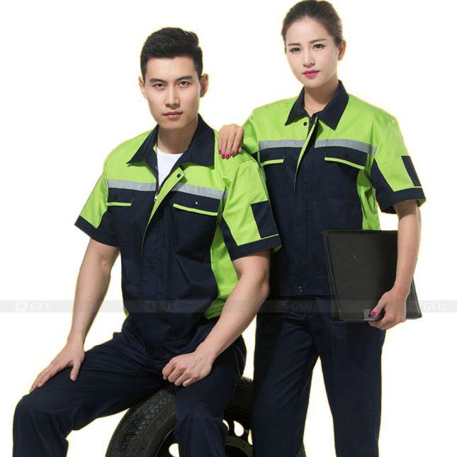 Quan ao dong phuc bao ho GLU X816 đồng phục công nhân cơ khí