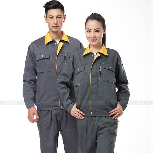 Quan ao dong phuc bao ho GLU X824 đồng phục công nhân cơ khí