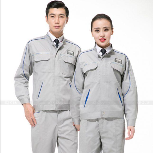 Quan ao dong phuc bao ho GLU X827 đồng phục công nhân cơ khí