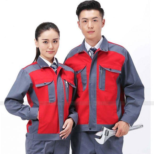 Quan ao dong phuc bao ho GLU X831 đồng phục công nhân cơ khí