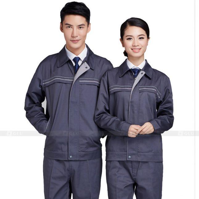 Quan ao dong phuc bao ho GLU X838 đồng phục công nhân cơ khí
