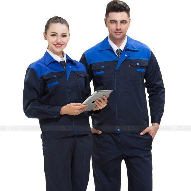 Quan ao dong phuc bao ho GLU X841 đồng phục công nhân cơ khí