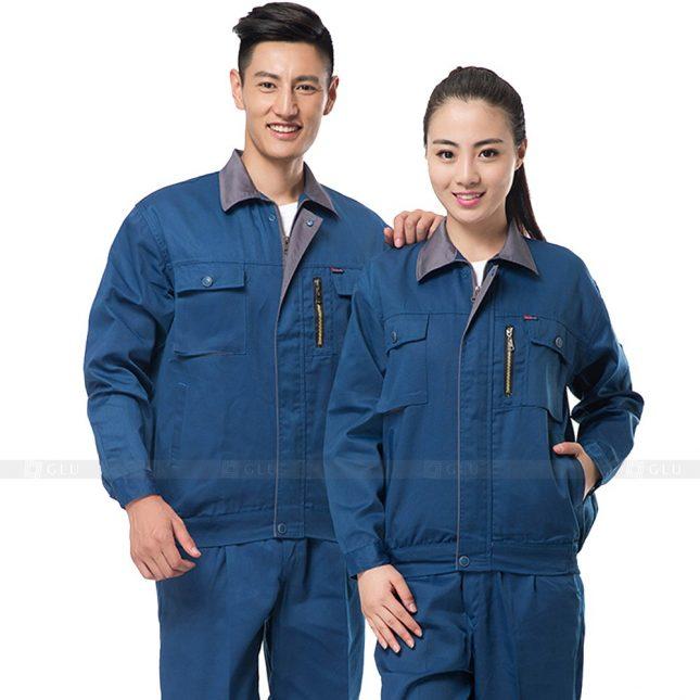 Quan ao dong phuc bao ho GLU X849 đồng phục công nhân cơ khí