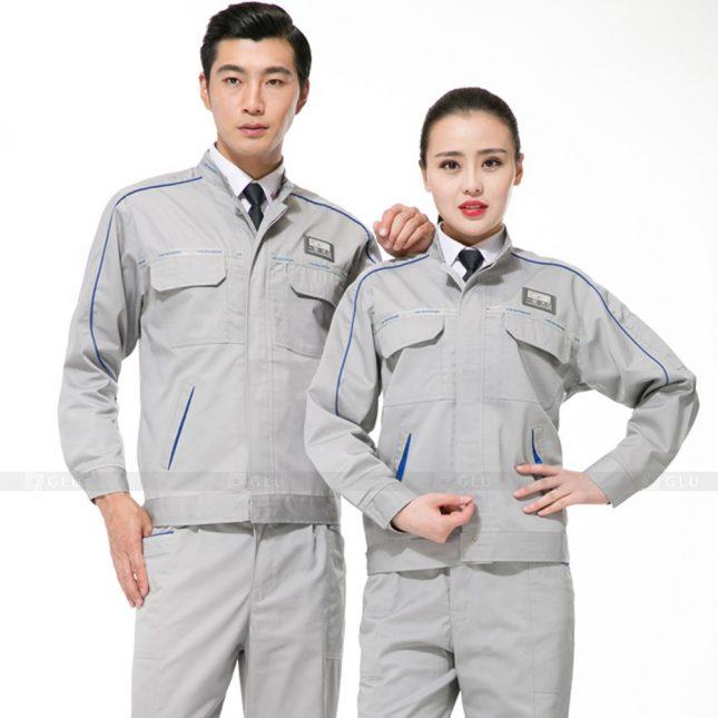 Quan ao dong phuc bao ho GLU X879 đồng phục công nhân cơ khí