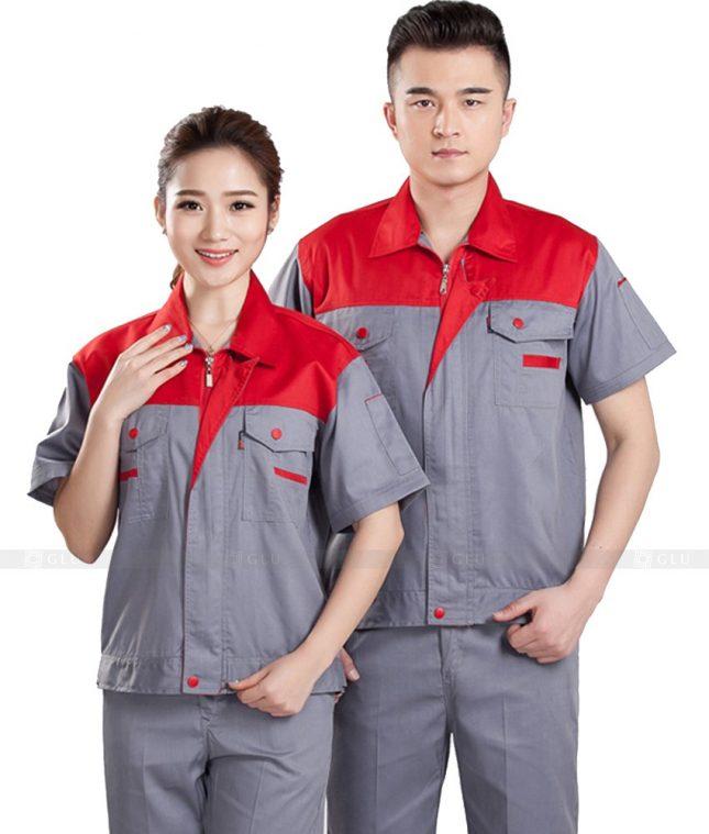 Quan ao dong phuc bao ho GLU X883 đồng phục công nhân cơ khí