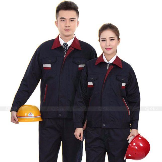 Quan ao dong phuc bao ho GLU X887 đồng phục công nhân cơ khí
