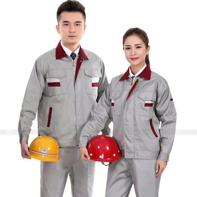 Quan ao dong phuc bao ho GLU X888 đồng phục công nhân cơ khí
