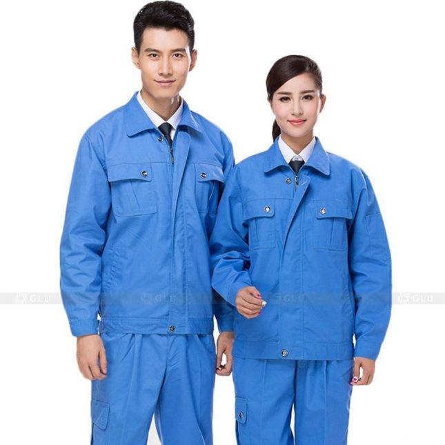 Quan ao dong phuc bao ho GLU X889 đồng phục công nhân cơ khí