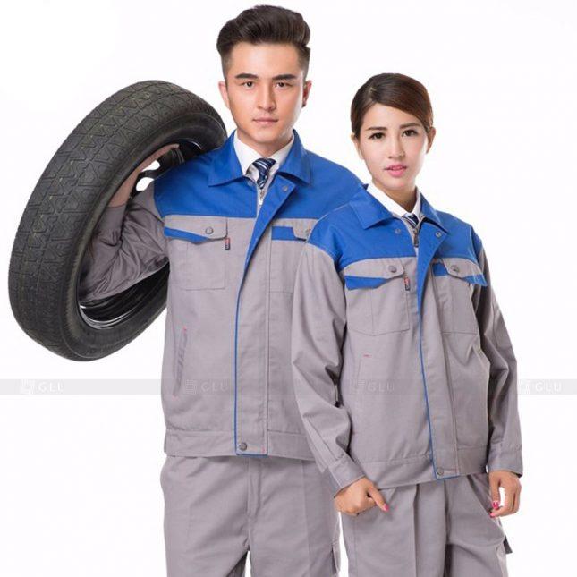 Quan ao dong phuc bao ho GLU X898 đồng phục công nhân cơ khí