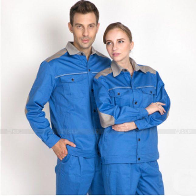 Quan ao dong phuc bao ho GLU X899 đồng phục công nhân cơ khí
