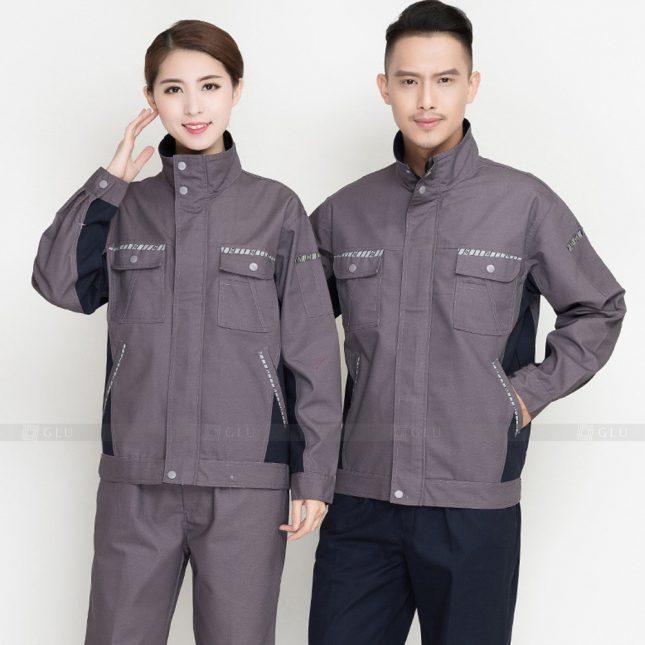Quan ao dong phuc bao ho GLU X903 đồng phục công nhân cơ khí