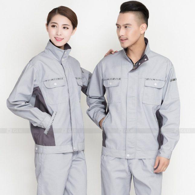 Quan ao dong phuc bao ho GLU X906 đồng phục công nhân cơ khí