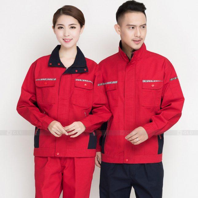 Quan ao dong phuc bao ho GLU X907 đồng phục công nhân cơ khí