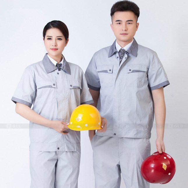 Quan ao dong phuc bao ho GLU X909 đồng phục công nhân cơ khí
