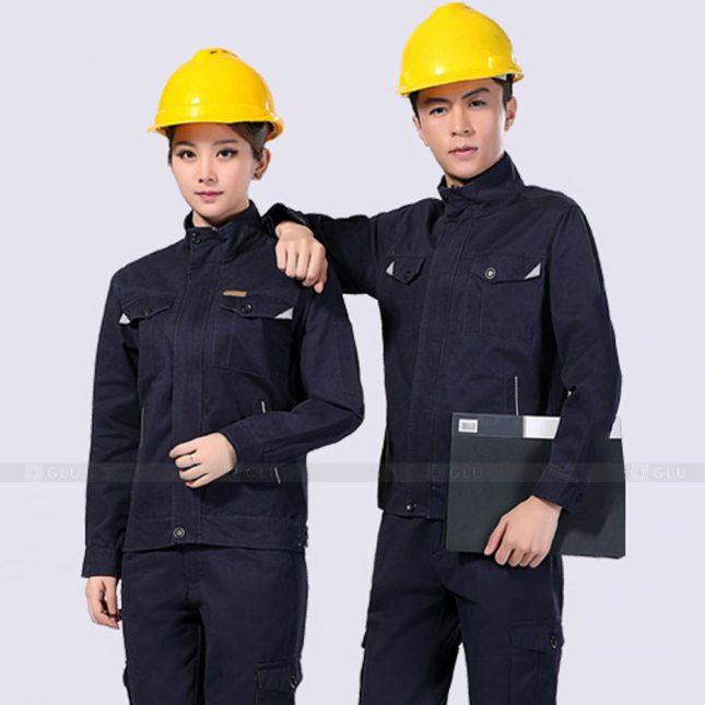 Quan ao dong phuc bao ho GLU X912 đồng phục công nhân cơ khí