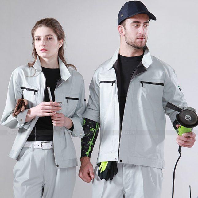 Quan ao dong phuc bao ho GLU X927 đồng phục công nhân cơ khí