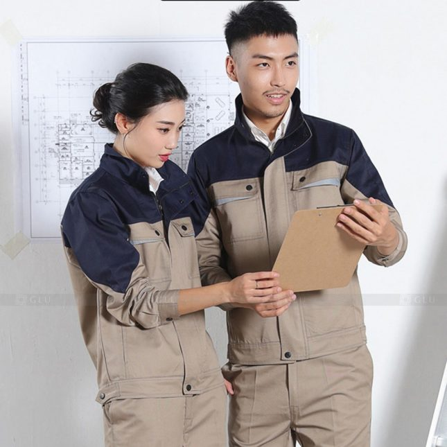 Quan ao dong phuc bao ho GLU X941 đồng phục công nhân cơ khí