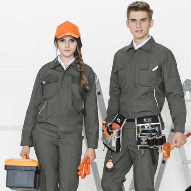 Quan ao dong phuc bao ho GLU X943 đồng phục công nhân cơ khí