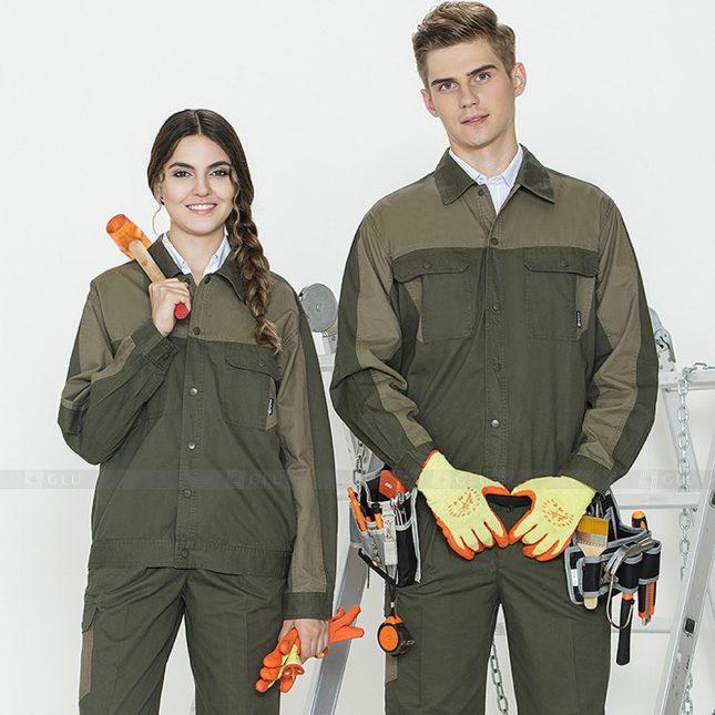 Quan ao dong phuc bao ho GLU X954 đồng phục công nhân cơ khí