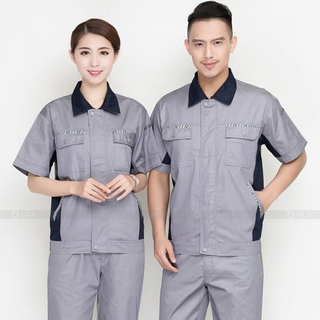 Quan ao dong phuc bao ho GLU X962 đồng phục công nhân cơ khí