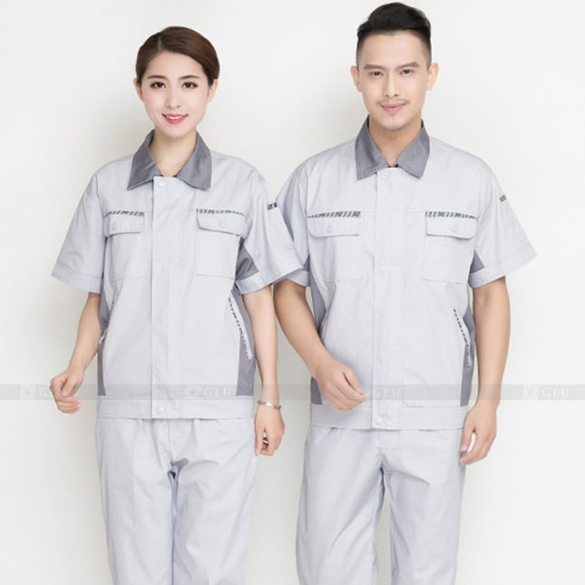 Quan ao dong phuc bao ho GLU X963 đồng phục công nhân cơ khí