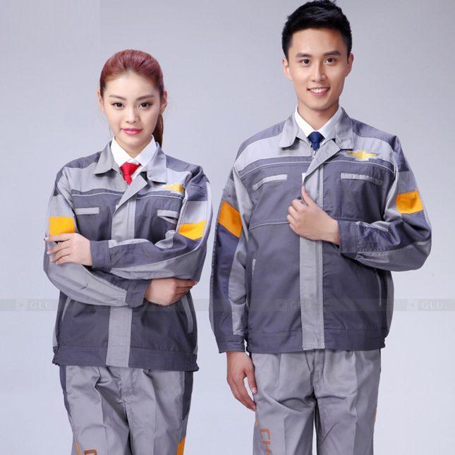 Quan ao dong phuc bao ho GLU X966 đồng phục công nhân cơ khí