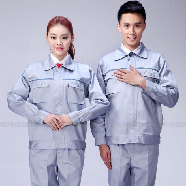 Quan ao dong phuc bao ho GLU X967 đồng phục công nhân cơ khí