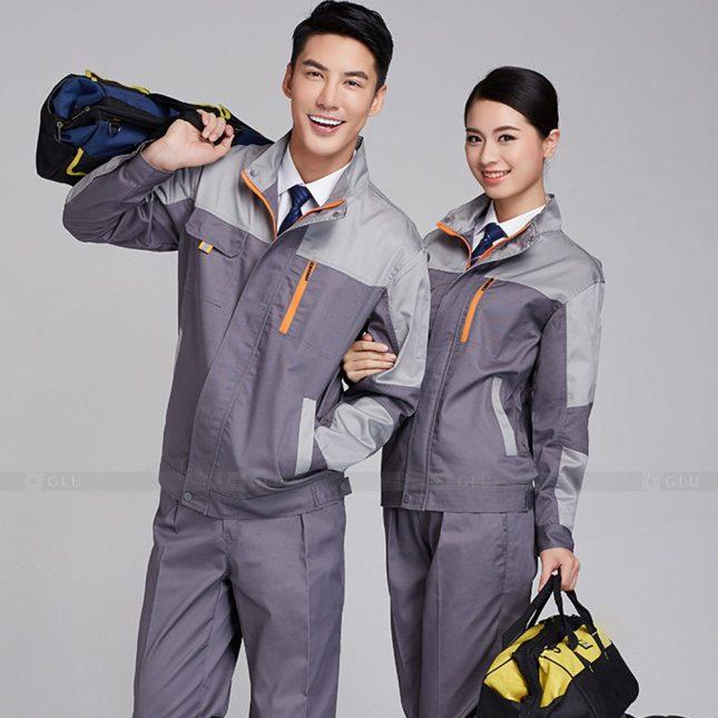 Quan ao dong phuc bao ho GLU X978 đồng phục công nhân cơ khí