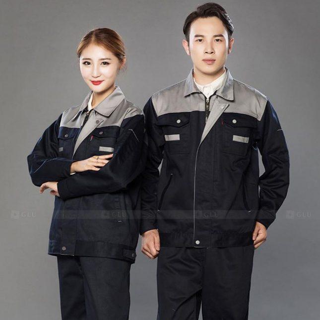 Quan ao dong phuc bao ho GLU X984 đồng phục công nhân cơ khí