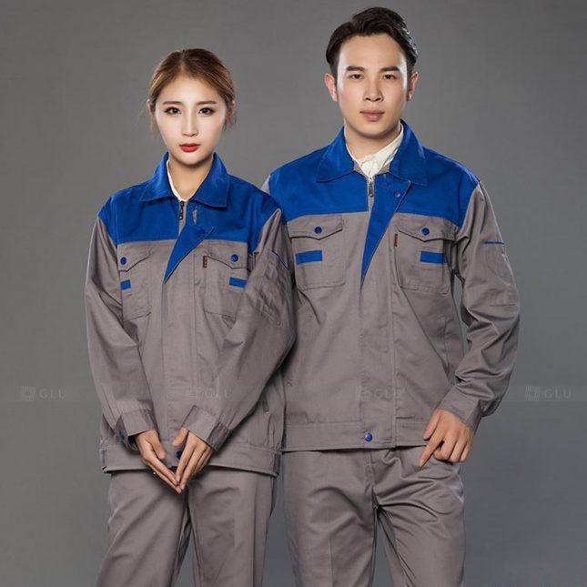 Quan ao dong phuc bao ho GLU X993 đồng phục công nhân cơ khí