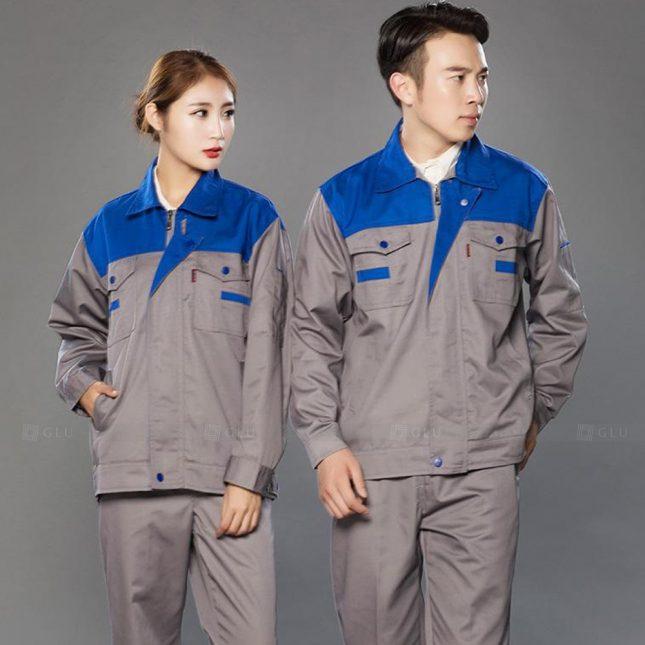 Quan ao dong phuc bao ho GLU X997 đồng phục công nhân cơ khí