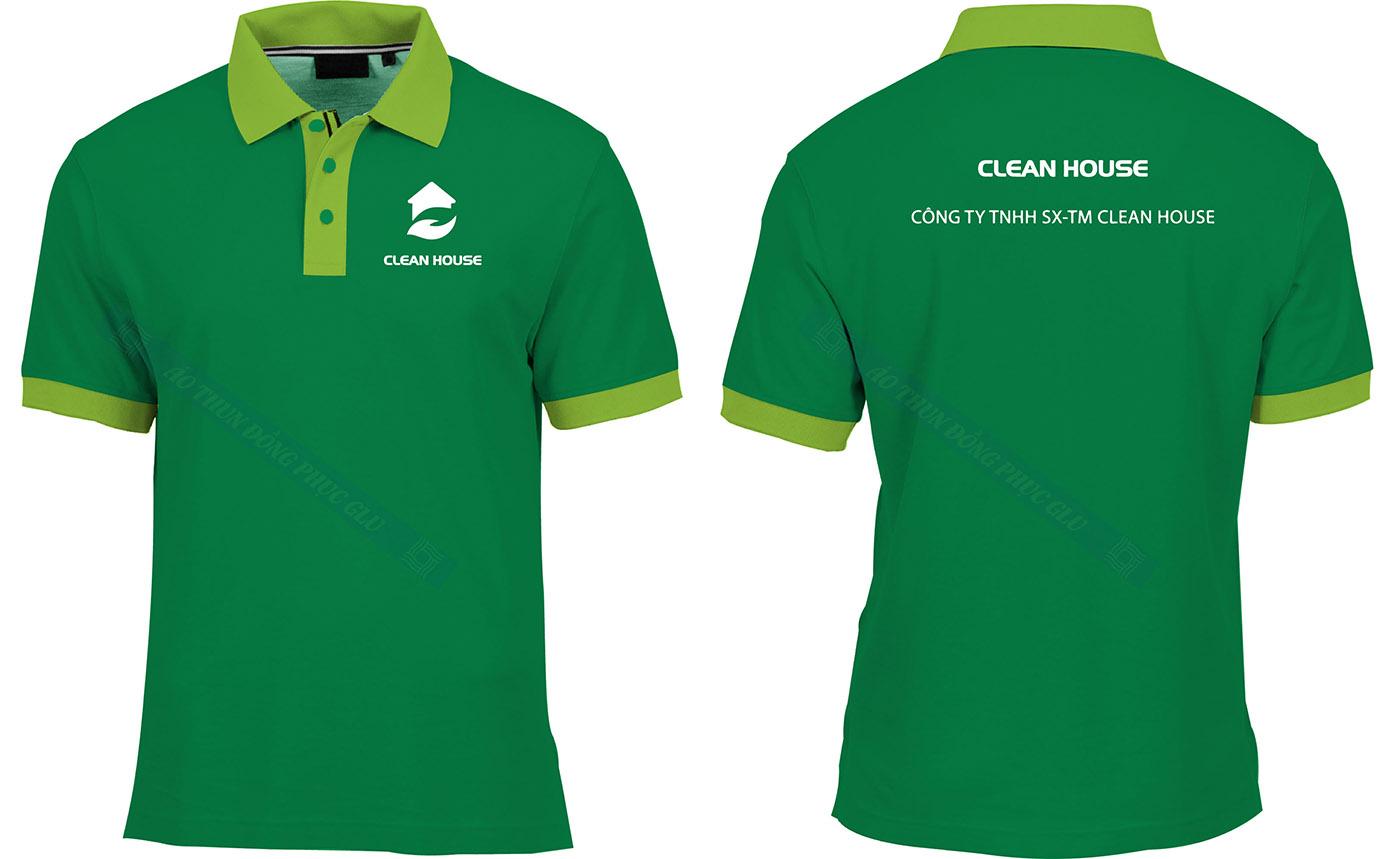 AO THUN CLEAN HOUSE đồng phục công ty đẹp