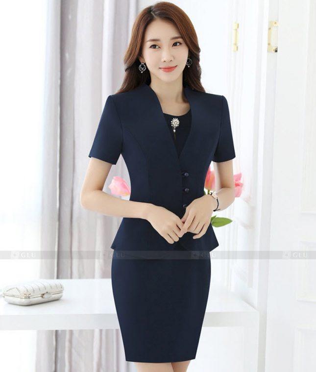 Ao Vest Dong Phuc Cong So GLU 398 áo sơ mi nữ đồng phục công sở
