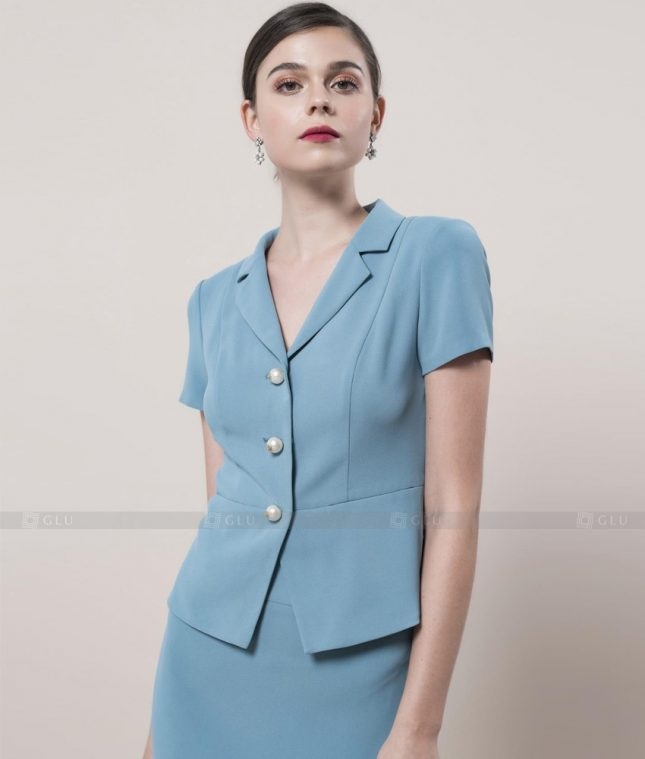 Ao Vest Dong Phuc Cong So GLU 400 áo sơ mi nữ đồng phục công sở