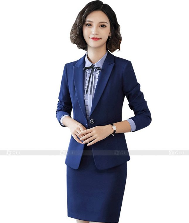 Ao Vest Dong Phuc Cong So GLU 407 áo sơ mi nữ đồng phục công sở
