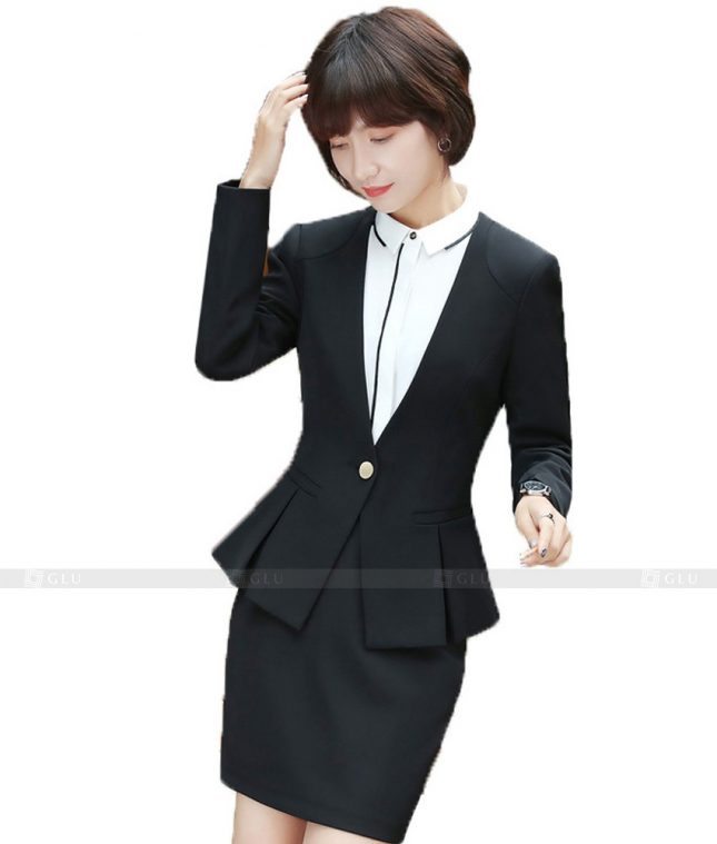 Ao Vest Dong Phuc Cong So GLU 411 áo sơ mi nữ đồng phục công sở