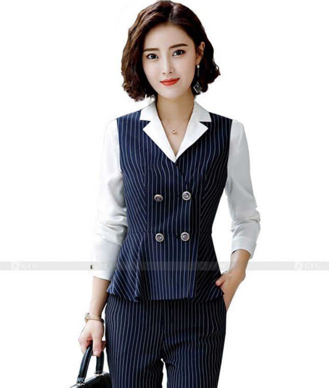 Ao Vest Dong Phuc Cong So GLU 412 áo sơ mi nữ đồng phục công sở