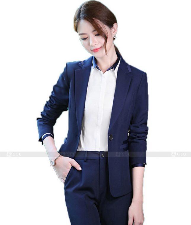 Ao Vest Dong Phuc Cong So GLU 413 áo sơ mi nữ đồng phục công sở
